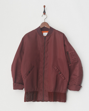 WINE PLEATED MA-1 JKTを見る