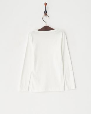 07 ピコレースプリント長袖Tシャツ見る