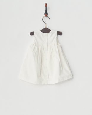 07 ホワイトコーデュロイジャンパースカート見る