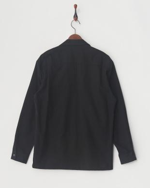 BLK ファインネルオープンカラーシャツ見る