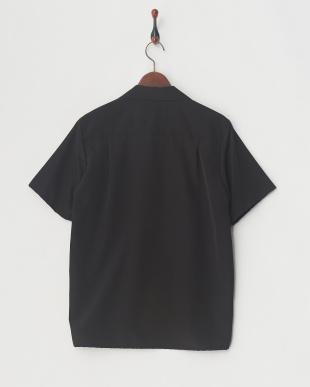 BLK ブライトサテンリラックスオープンカラーシャツ見る