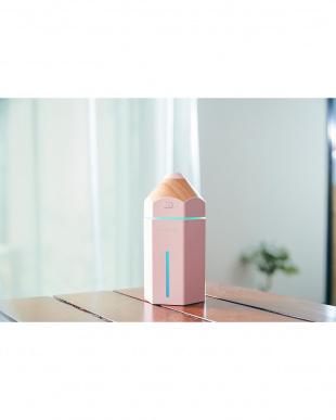 ピンク コンパクト加湿器 URURU PENCIL見る