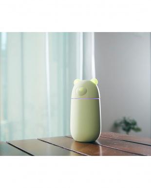 グリーン コンパクト加湿器 URUKUMASAN見る