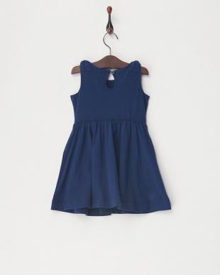 紺 Shoulder Bow Dressを見る