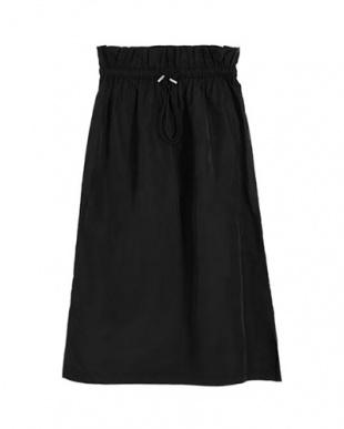 ブラック グログラン台形スカートを見る