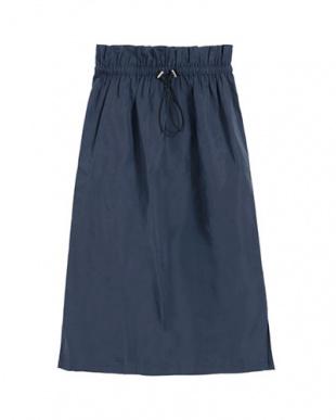 ネイビー グログラン台形スカートを見る