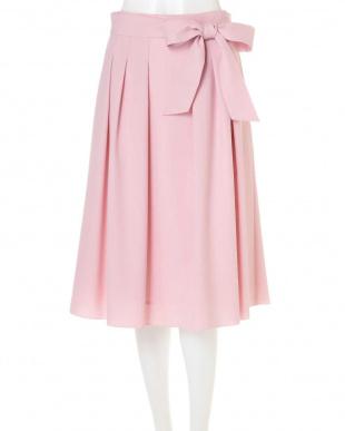 ピンク ◆大きいサイズ◆リボン付スプリングカラースカート Aylesbury L見る