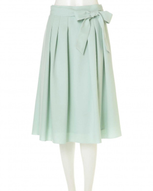 グリーン ◆大きいサイズ◆リボン付スプリングカラースカート Aylesbury L見る