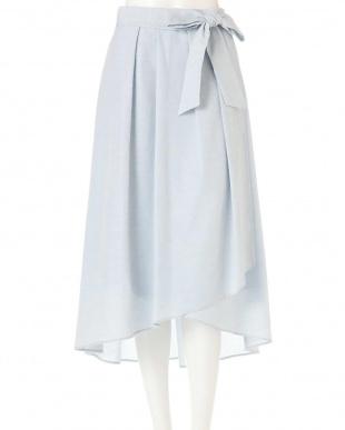 サックスブルー ◆大きいサイズ◆[WEB限定商品]スウェイングシャンブレースカート Aylesbury L見る