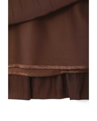 ブラウン ◆大きいサイズ◆割繊ロングギャザースカート Aylesbury L見る