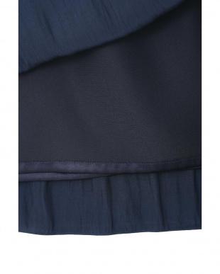 ネイビー ◆大きいサイズ◆割繊ロングギャザースカート Aylesbury L見る