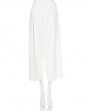 ホワイト ◆大きいサイズ◆タックボリュームボトム 22 OCTOBRE L見る