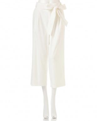 ホワイト ◆大きいサイズ◆TEN/Nクロップドワイドパンツ 22 OCTOBRE L見る