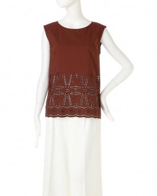 ブラウン ◆大きいサイズ◆インド刺繍ブラウス 22 OCTOBRE L見る