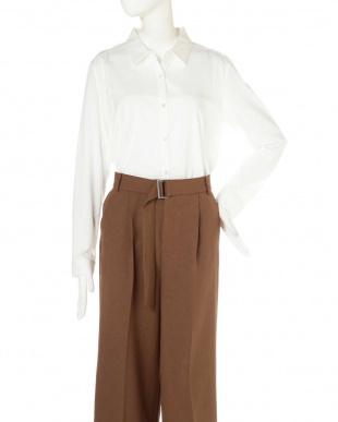 ホワイト ◆大きいサイズ◆ジャージーシャツ 22 OCTOBRE L見る