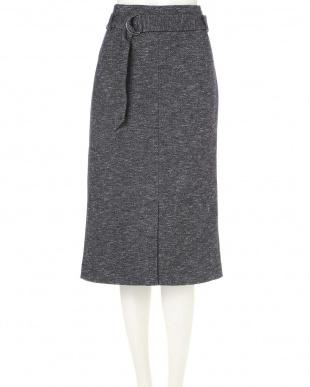 ネイビー1 ◆大きいサイズ◆コットンウールジャージースカート 22 OCTOBRE L見る