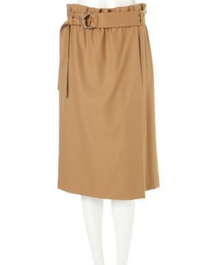 キャメル5 ◆大きいサイズ◆ハイウエストラップ風スカート 22 OCTOBRE L見る