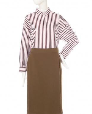 ピンコッタ5 ◆大きいサイズ◆[洗える]ストライプジャージーシャツ 22 OCTOBRE L見る