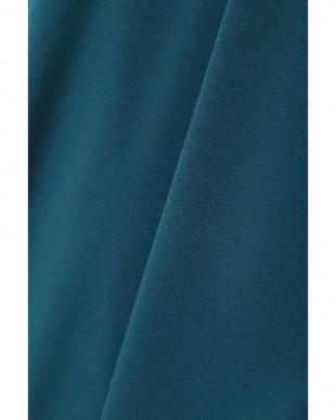 ブルー ◆大きいサイズ◆サッシュベルト付きジャージーブラウス 22 OCTOBRE L見る