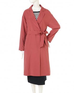 ピンク ◆大きいサイズ◆ロングタフタコート 22 OCTOBRE L見る