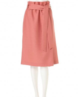 ピンク ◆大きいサイズ・洗える◆[WEB限定商品]リネンライクハイウエストスカート 22 OCTOBRE L見る