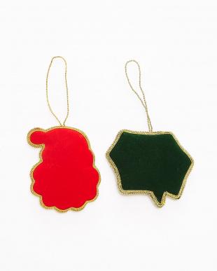 サンタ/メリークリスマス  刺繍オーナメント 2種セット見る