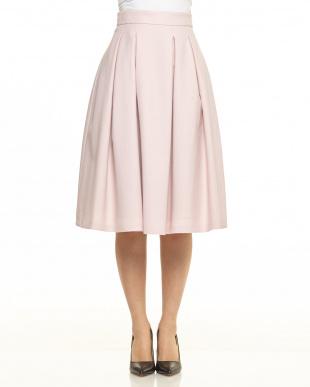 グレイッシュピンク ボリュームスカート見る