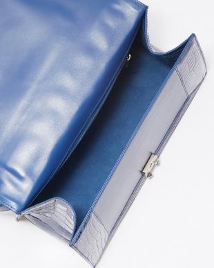 ブルー クロコダイルハンドバッグ見る