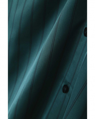 グリーンベースXネイビーストライプ1 [ウォッシャブル]サテンストライプブラウス BOSCH見る