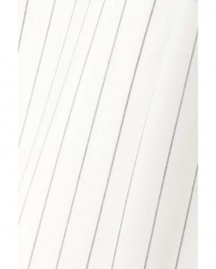 ホワイトストライプ1 [ウォッシャブル]2WAYストライプワイドパンツ BOSCH見る