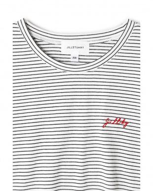 ボーダー1 ポイントロゴTシャツ Jill by Jill リプロ見る