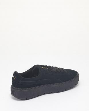 PUMA BLACK-PUMA BLACK スウェード プラットフォーム トレース ウィメンズ│WOMEN見る
