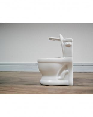 ホワイト toilet brush見る