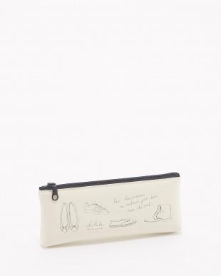 ホワイト  ペンケース&フラットポーチセット/雑貨コレクション・オララゾエ見る