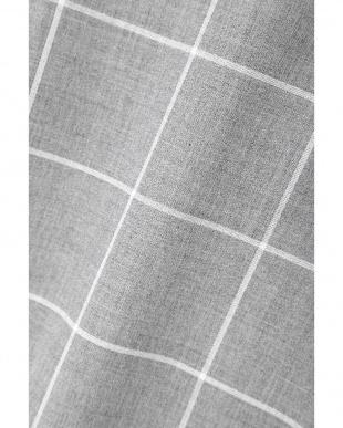 グレー×ホワイト1 [ウォッシャブル]ウィンドペンブラウス NATURAL BEAUTY見る