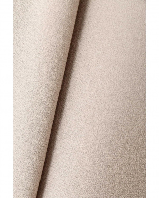 ベージュ [洗える]バックサテンジョーゼットスカート NATURAL BEAUTY見る