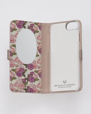 シャンパンゴールド  フラワーダイヤ・フラップケース iPhone8.7.6s.6/Brilliant見る
