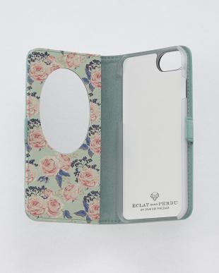ミント  フラワーダイヤ・フラップケース iPhone8.7.6s.6/Brilliant見る