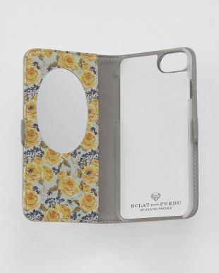 シルバー  フラワーダイヤ・フラップケース iPhone8.7.6s.6/Brilliant見る