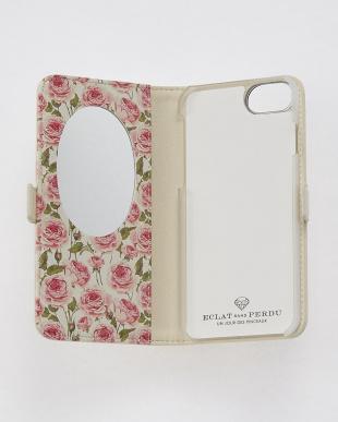 ホワイト  フラワーダイヤ・フラップケース iPhone8.7.6s.6/Brilliant見る