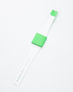 グリーン  腕時計・ネオン/アイ・ライク・ペーパー見る
