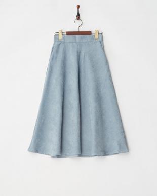 ブルー コール天フレアスカート見る