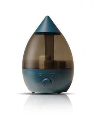 ブルー  きれいなミストで加湿するアロマ超音波式加湿器見る