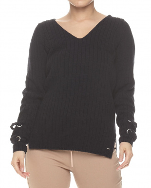 JBLK SVANNA DEEP V SWEATER見る