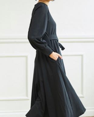 BLACK ベルト付 カットソー ワンピース|WOMEN見る