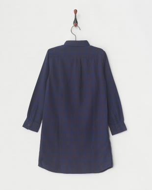 ネイビー キモウチェックL/Sシャツ│UNISEX見る