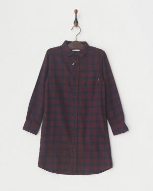 レッド キモウチェックL/Sシャツ│UNISEX見る