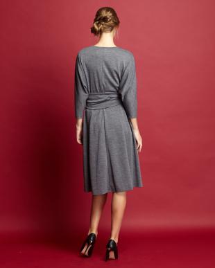 dark grey CRINALE Jersey Dress見る