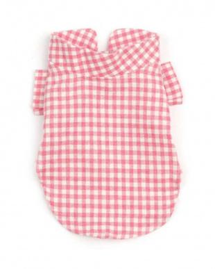 Pink Check  『MONCHOUCHOU』Vanilla Check Shirt見る