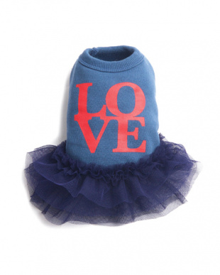 Blue  『MONCHOUCHOU』Love tutu Dress見る